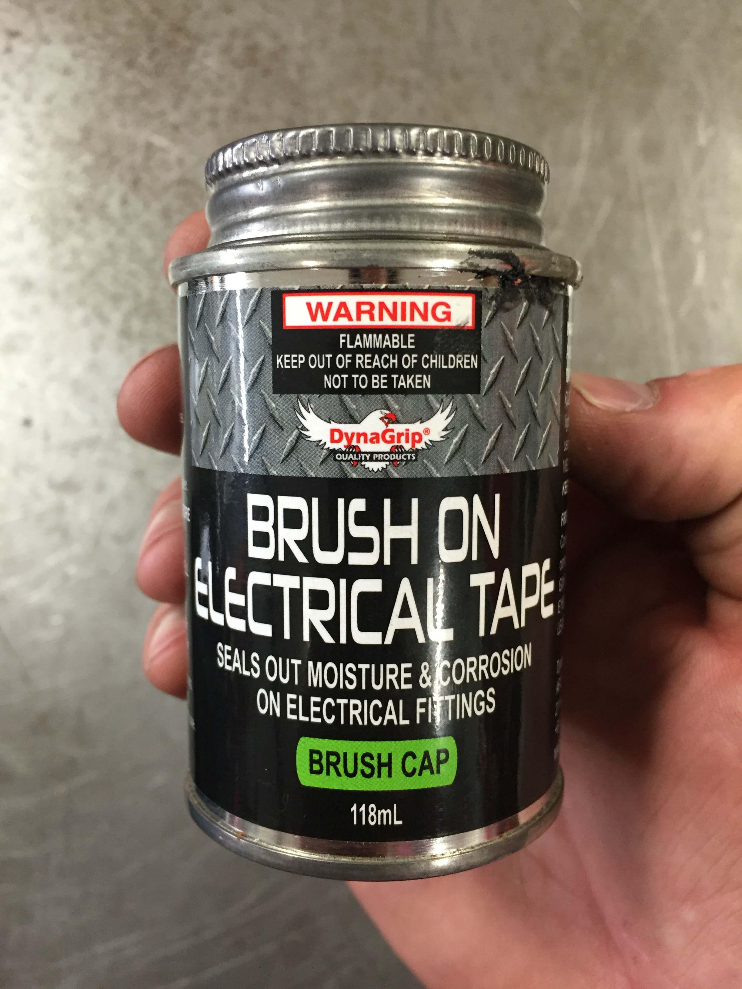 Brush on electrical tape