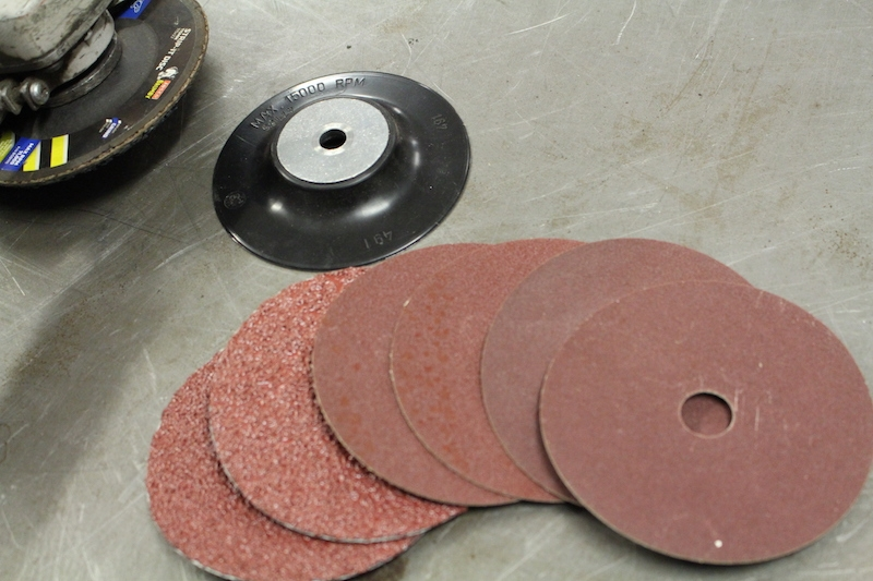 sanding disc-backing plate