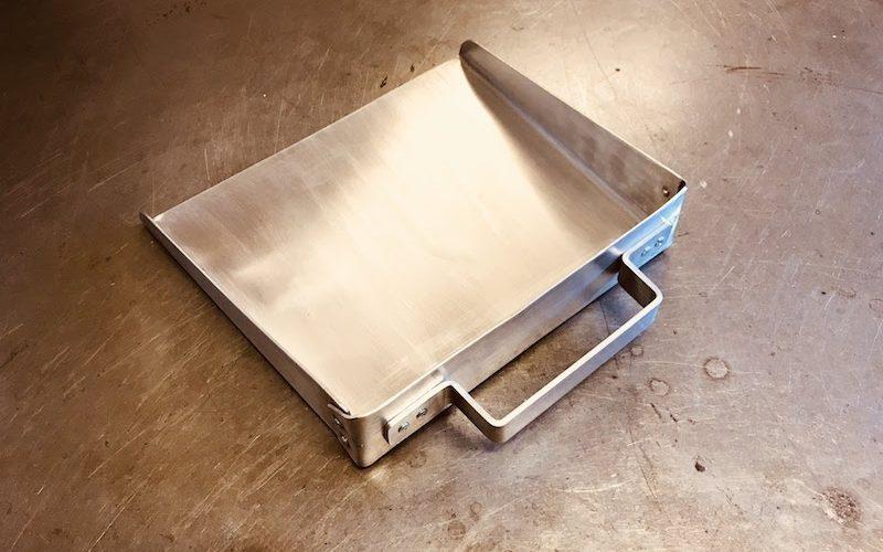 (2) Shop-built dustpan