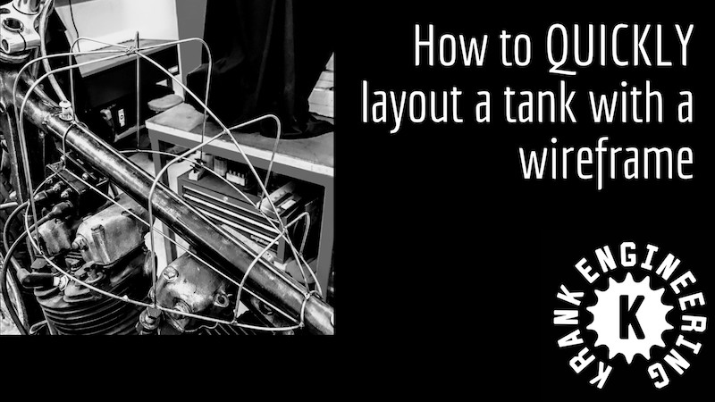 How to QUICKLY layout a custom tank with a wireframe metalshaping buck